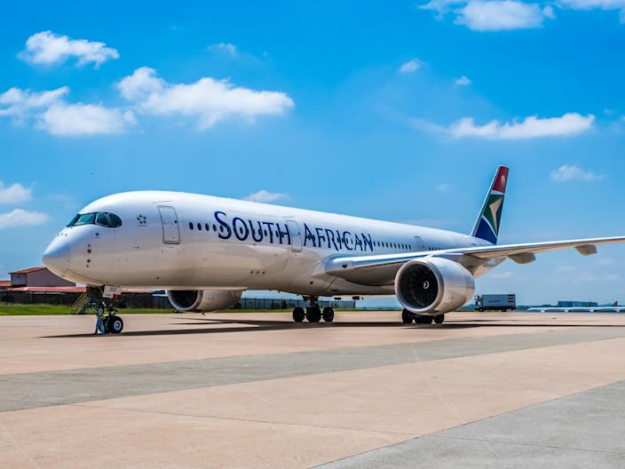 A South African Airways Airbus A350-900 XWB.