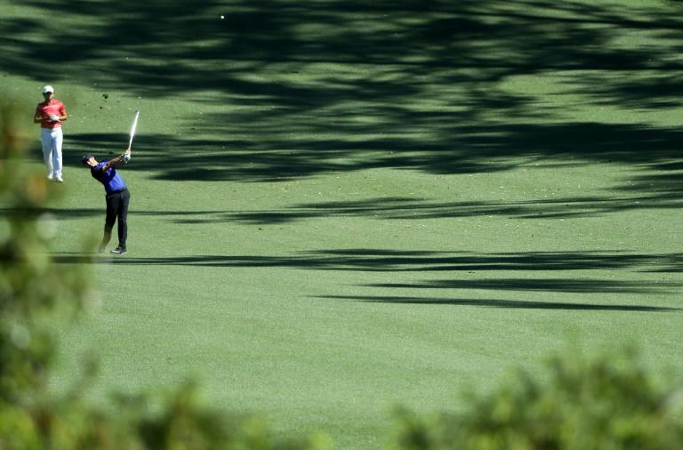 Rory McIlroy of Northern Ireland plays a shot during a practice round prior to the start of the 2017 Masters Tournament, at Augusta National Golf Club in Georgia, on April 4