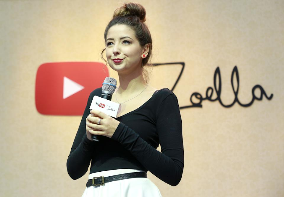 EDITORIAL USE ONLY YouTube vlogger Zoella, real name Zoe Suggs, at the launch of her pop-up store at Westfield Stratford City in London.