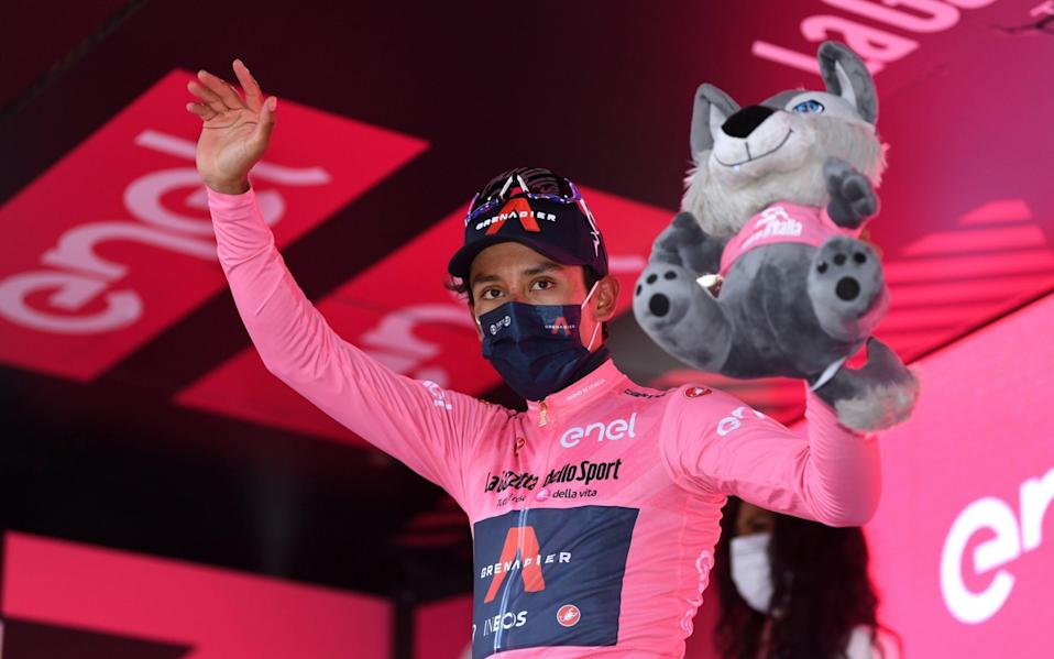 Egan Bernal -Giro d'Italia 2021: Egan Bernal takes hold of leader's pink jersey with first stage win - GETTY IMAGES