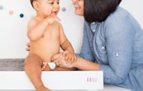 <p>Besides, you know, providing a space to change nappies parents can also track their babies' growth, feedings and sleep on their smartphones via an app for $59.99 (£46)[Photo: hatchnursery/Instagram] </p>