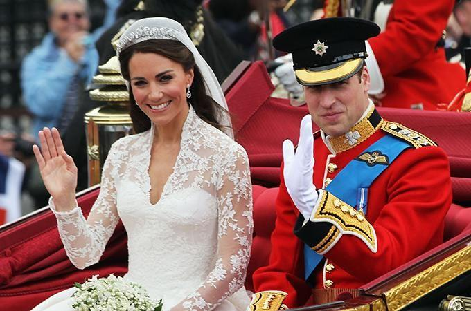 Kate wore her first tiara on her wedding day. Photo: Getty Images