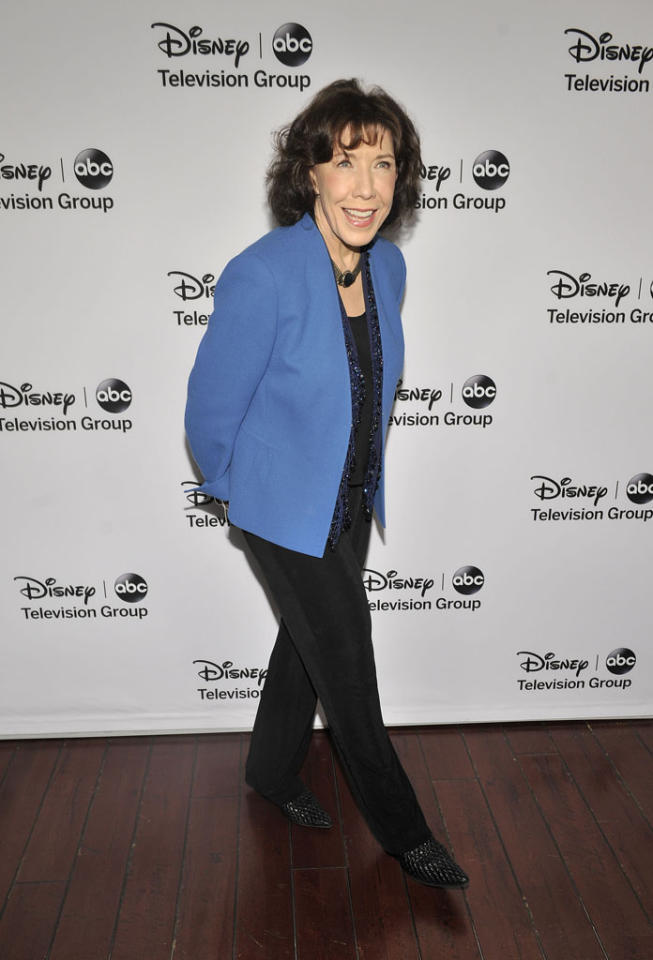 "Lily Tomlin (""Malibu Country"") attends the Disney ABC Television Group 2013 TCA Winter Press Tour at The Langham Huntington Hotel and Spa on January 10, 2013 in Pasadena, California."