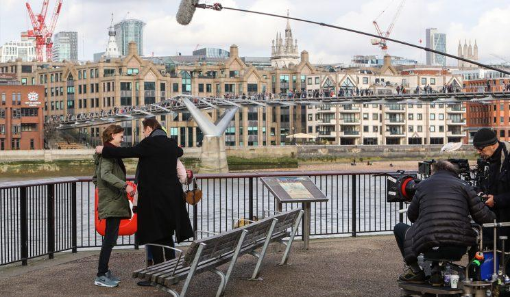 On set with Love Actually - Credit: WENN