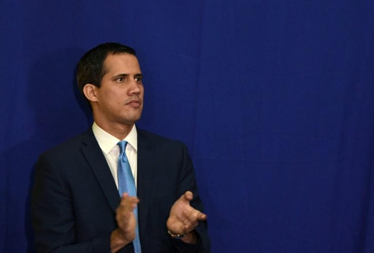 Juan Guaido, pictured on January 5, was re-elected speaker of the National Assembly while rival lawmaker Luis Parra also claimed the title after a separate vote