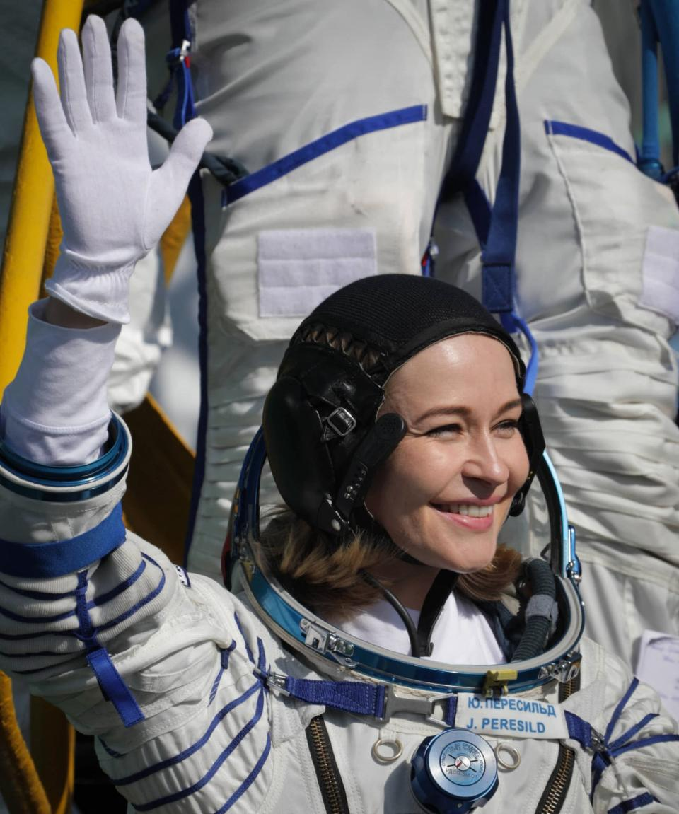 L'actrice Ioulia Peressild - Handout / Russian Space Agency Roscosmos - AFP