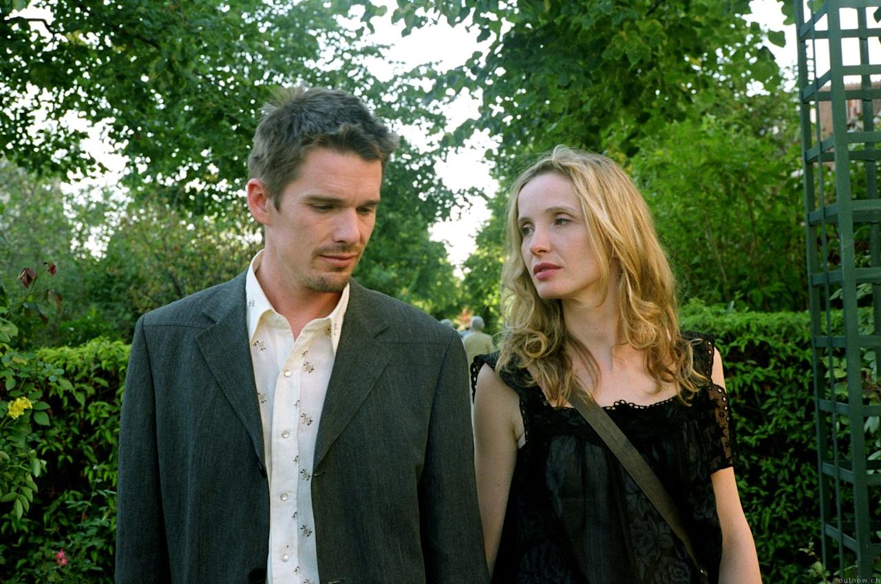 """Julie Delpy and Ethan Hawke (""""Before Sunset,"""" """"Before Midnight"""") — Richard Linklater's seminal 1995 minimalist romance """"Before Sunrise"""" followed two young travellers (played by Delpy and Hawke) as they randomly meet and spend the night together in Vienna. The two actors gave wonderful, career-defining performances in the film, roles that they reprised in 2004 sequel """"Before Sunset"""" and again in the upcoming """"Before Midnight."""" While catching up with fictional characters every ten years or so may seem a bit gimmicky, Delpy, Hawke, and Linklater are so invested in this pair of lovers that they make the very talky two hours just fly by for audiences."""
