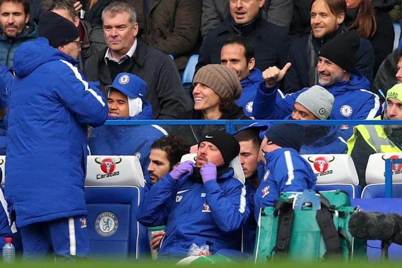 Injury woes | David Luiz (centre) has made just one appearance for Chelsea since late October: Getty Images