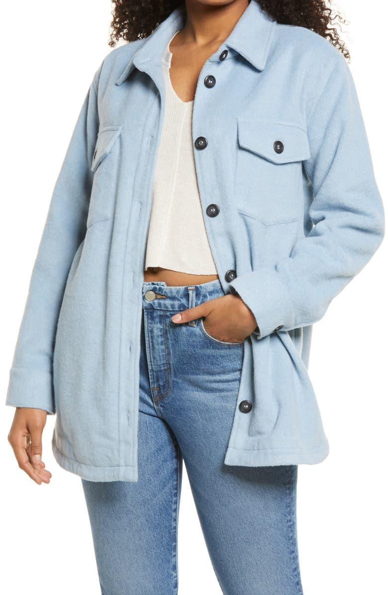 """<strong><h2>Thread Supply Shirt Jacket</h2></strong><br><strong>SELLING FAST</strong><br>A baby blue lightweight jacket is exactly what we need for the seasonal transition to fall. Soft and a certified keeper, this is one deal you don't want to miss. <br><br><em>Shop more <a href=""""https://go.skimresources.com?id=30283X879131&xs=1&url=https%3A%2F%2Fwww.nordstrom.com%2Fbrowse%2Fanniversary-sale%2Fall%3FpostalCodeAvailability%3D10543%26filterByProductType%3Dclothing_jackets&sref=https%3A%2F%2Fwww.refinery29.com%2Fen-us%2Fnordstrom-anniversary-sale-best-sellers"""" rel=""""nofollow noopener"""" target=""""_blank"""" data-ylk=""""slk:Nordstrom Anniversary Sale jackets"""" class=""""link rapid-noclick-resp"""">Nordstrom Anniversary Sale jackets</a></em><br><br><strong>Thread Supply</strong> Shirt Jacket, $, available at <a href=""""https://go.skimresources.com/?id=30283X879131&url=https%3A%2F%2Fwww.nordstrom.com%2Fs%2Fthread-supply-shirt-jacket%2F5934105"""" rel=""""nofollow noopener"""" target=""""_blank"""" data-ylk=""""slk:Nordstrom"""" class=""""link rapid-noclick-resp"""">Nordstrom</a>"""