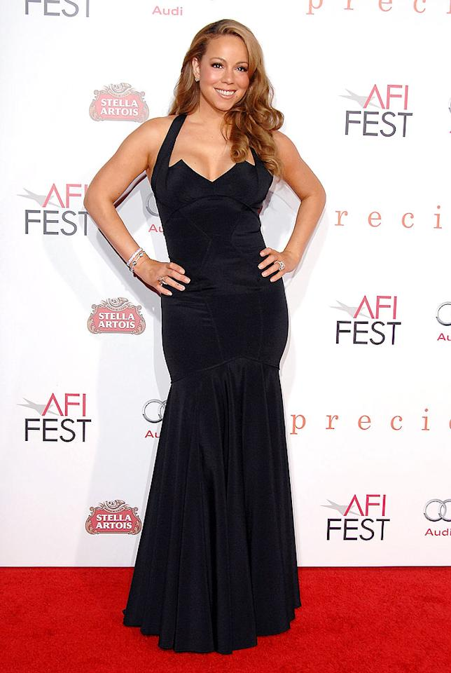 "November: Mariah Carey   She portrays a dowdy social worker in the award-worthy motion picture ""Precious,"" but that didn't stop the ""Obsessed"" singer from heating up the red carpet at the LA premiere of the flick in a fierce Zac Posen halter-neck gown. Jon Kopaloff/<a href=""http://www.filmmagic.com/"" target=""new"">FilmMagic.com</a> - November 1, 2009"