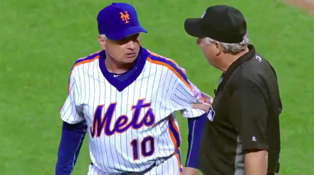Ever wonder how the conversation might go between a manager and an umpire