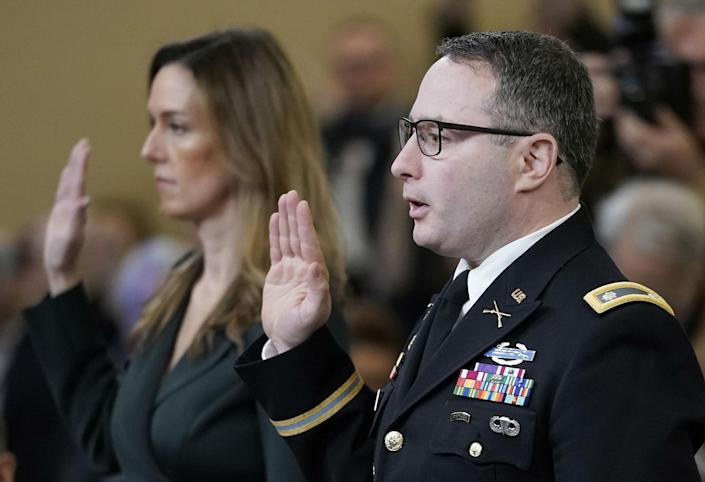Jennifer Williams and Lt Col Alexander Vindman both had concerns about president's call: Getty