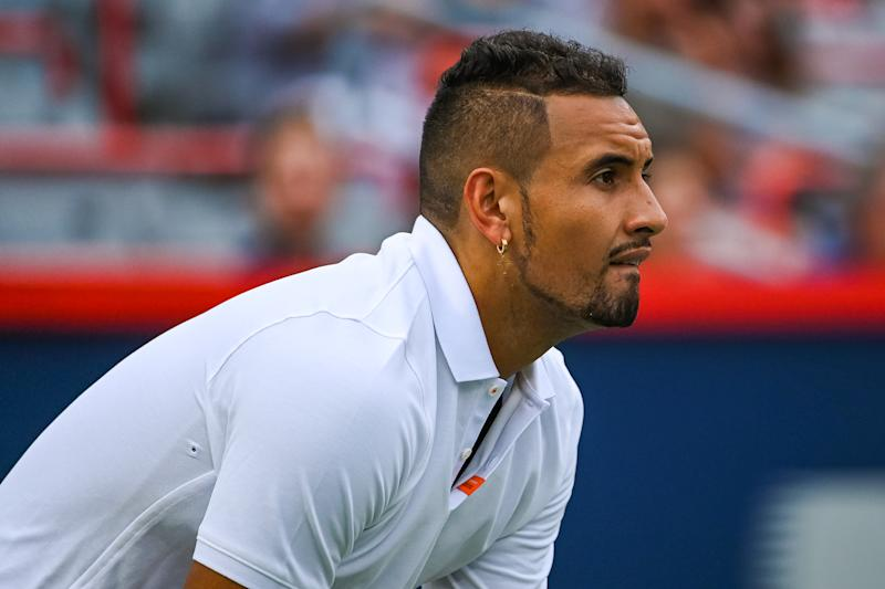 Nick Kyrgios is in hot water after his fiery antics in Cincinnati (Photo by David Kirouac/Icon Sportswire via Getty Images)
