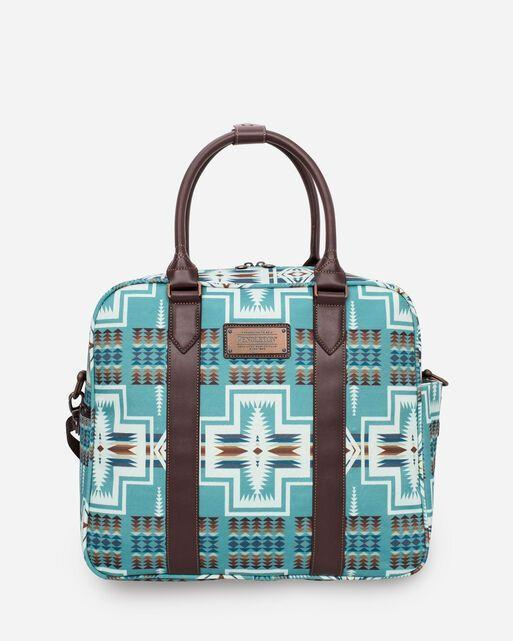 """<p>pendleton-usa.com</p><p><strong>$159.00</strong></p><p><a href=""""https://www.pendleton-usa.com/product/harding-weekender-bag/O-23121-40-WK-X000026-UNIT.html?rv=true"""" rel=""""nofollow noopener"""" target=""""_blank"""" data-ylk=""""slk:Shop Now"""" class=""""link rapid-noclick-resp"""">Shop Now</a></p><p>Ree is a big fan of Pendleton's woven blankets and coats, so this printed turquoise bag would be a big hit with her! The print was inspired by a ceremonial blanket presented to First Lady Florence Harding back in 1923. </p>"""