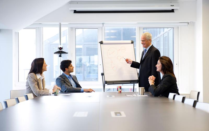 boring workplace meeting - Credit: Alamy