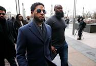"<p>In January 2019, Jussie Smollett told Chicago police that <a href=""https://www.cosmopolitan.com/entertainment/a26077181/empire-actor-jussie-smollett-hospitalized-assault-hate-crime-chicago/"" rel=""nofollow noopener"" target=""_blank"" data-ylk=""slk:he had been attacked"" class=""link rapid-noclick-resp"">he had been attacked</a> by two men who yelled ""This is MAGA country,"" put a noose around his neck, and poured a chemical substance on him. A month later, Jussie was arrested and later charged by the Chicago police department for giving them false information. Jussie was then indicted on 16 felony charges, and in 2020, he was indicted on <a href=""https://apnews.com/article/ae6ecdc8dfa7b5af555071033b2b2a7b"" rel=""nofollow noopener"" target=""_blank"" data-ylk=""slk:six more charges"" class=""link rapid-noclick-resp"">six more charges</a>. Although the attack is now thought of as a hoax, Jussie <a href=""https://www.buzzfeednews.com/article/adeonibada/jussie-smollett-innocence-hoax-maga-attack"" rel=""nofollow noopener"" target=""_blank"" data-ylk=""slk:maintains he did not lie"" class=""link rapid-noclick-resp"">maintains he did not lie</a>.</p>"