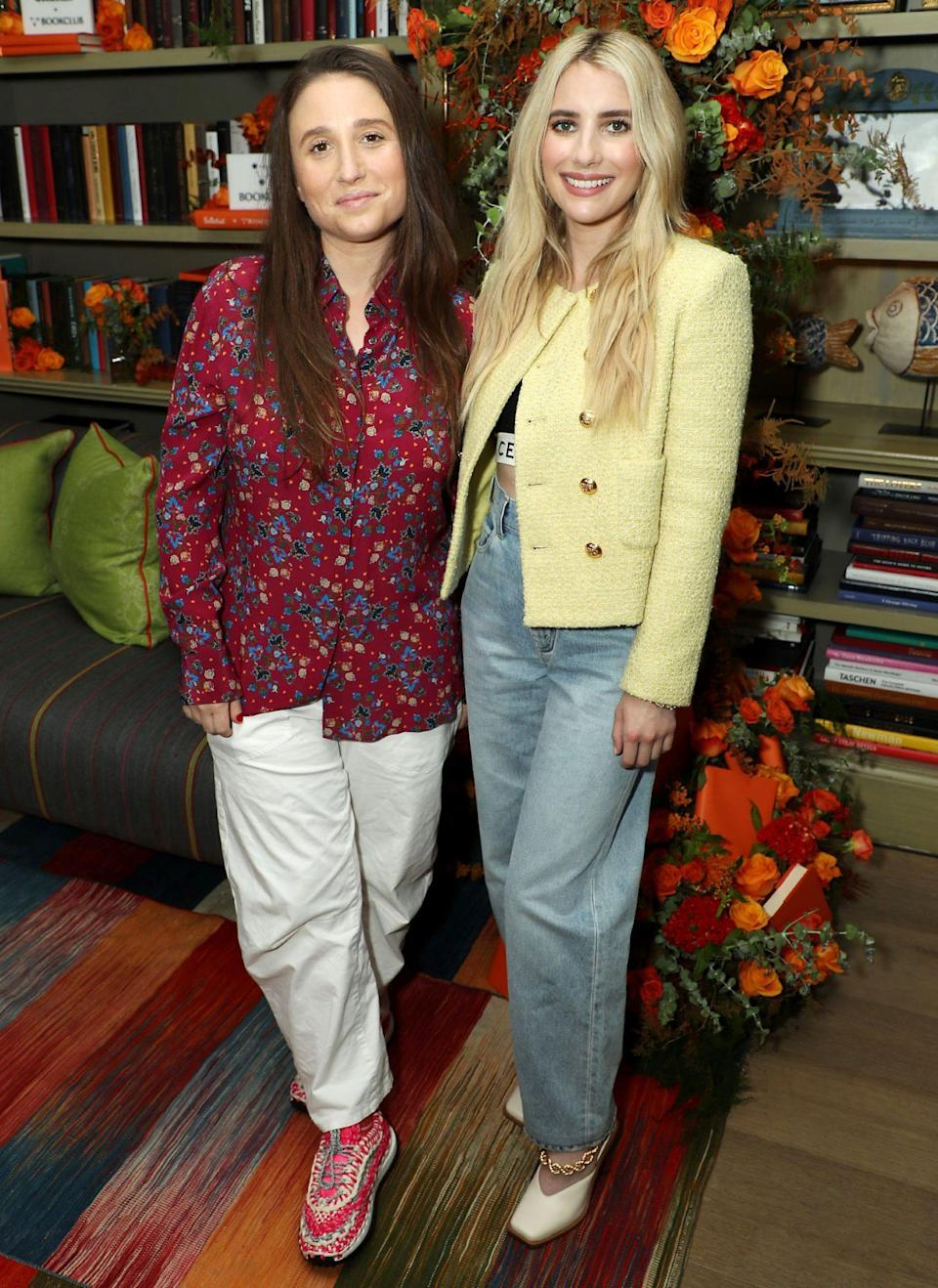 <p>Karah Preiss and Emma Roberts' Belletrist partners with BookClub at The Whitby Hotel Reading Room in N.Y.C. on July 27.</p>