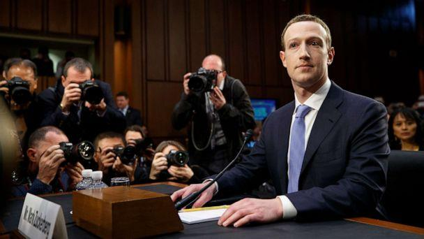 PHOTO: Mark Zuckerberg arrives to testify at a joint Senate Judiciary and Commerce Committee hearing, on Capitol Hill in Washington, April 10, 2018. (Tom Brenner/The New York Times via Redux)