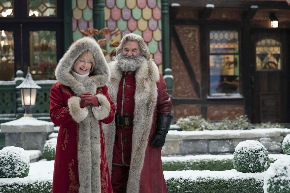 """Goldie Hawn and Kurt Russell as Santa and Mrs. Claus in """"The Christmas Chronicles: Part Two."""""""