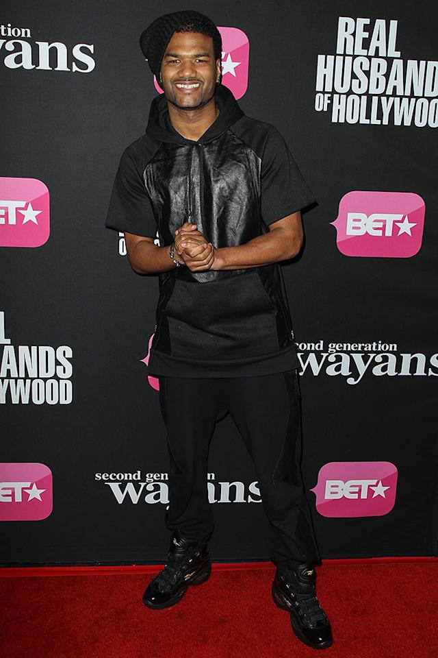 "Damien Dante Wayans arrives at the screenings of BET Networks' ""Real Husbands of Hollywood"" and ""Second Generation Wayans"" held at the Regal Cinemas L.A. Live on January 8, 2013 in Los Angeles, California."