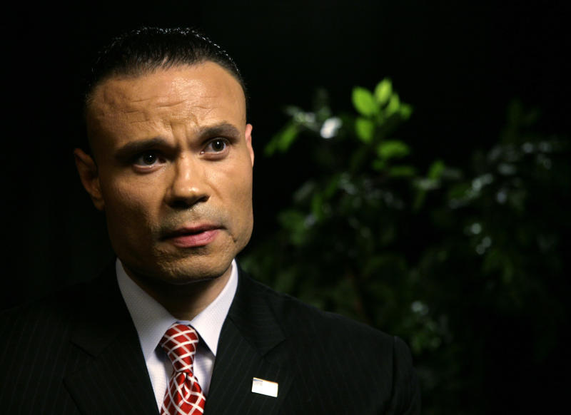 """Daniel Bongino, a former Secret Service agent and U.S. Senate candidate in Maryland, speaks during an interview at the Associated Press on Tuesday, April 17, 2012 in New York. Bongino said that the agents under investigation for hiring prostitutes in Columbia while preparing for President Obama's visit """"will pay for this forever."""" (AP Photo/ Peter Morgan)"""