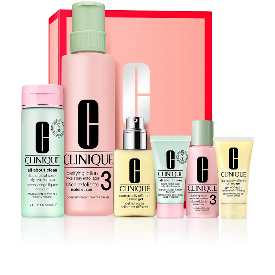 """<h3><a href=""""https://www.ulta.com/great-skin-everywhere-set-combination-oily-oily-skin?productId=pimprod2018190"""" rel=""""nofollow noopener"""" target=""""_blank"""" data-ylk=""""slk:Clinique Great Skin Everywhere Set For Combination To Oily Skin"""" class=""""link rapid-noclick-resp"""">Clinique Great Skin Everywhere Set For Combination To Oily Skin</a></h3><br><strong>Deal:</strong> 30% off Clinique Great Skin Everywhere kits<br><br><strong>Clinique</strong> Great Skin Everywhere Set, $, available at <a href=""""https://go.skimresources.com/?id=30283X879131&url=https%3A%2F%2Fwww.ulta.com%2Fgreat-skin-everywhere-set-combination-oily-oily-skin%3FproductId%3Dpimprod2018190"""" rel=""""nofollow noopener"""" target=""""_blank"""" data-ylk=""""slk:Ulta Beauty"""" class=""""link rapid-noclick-resp"""">Ulta Beauty</a>"""