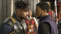 <p> The MCU was already a massive deal when Black Panther roared into cinemas in early 2018, but no Marvel film before had a bigger cultural impact. Only Star Wars: The Force Awakens, Avengers: Endgame and Avatar have made more money at the US box office. Fronted by royalty in the form of King T'Challa, the ensemble is one of the best Marvel movies in the MCU so far. </p> <p> Another star is the country of Wakanda itself – a stunning, vibrant, and oh-so-alive world that feels both futuristic and steeped in culture and tradition. Everything about it, from the palace, to the mountain home of M'Baku and the Jabari tribe, is utterly unique and brilliantly realised. The plot of the movie is tightly woven around Wakanda, dealing with both the internal and external conflicts the country is going through. And then there's Michael B. Jordan's villain, Erik Killmonger, who is terrifying, sympathetic and relatable in equal measure. It's been a long time coming, but Black Panther is a strong, bold, and thrilling solo movie. </p>