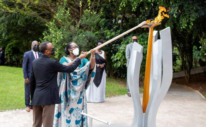 FILE PHOTO: FILE PHOTO: Commemoration of the 1994 Genocide, at the Kigali Genocide Memorial Center in Kigali