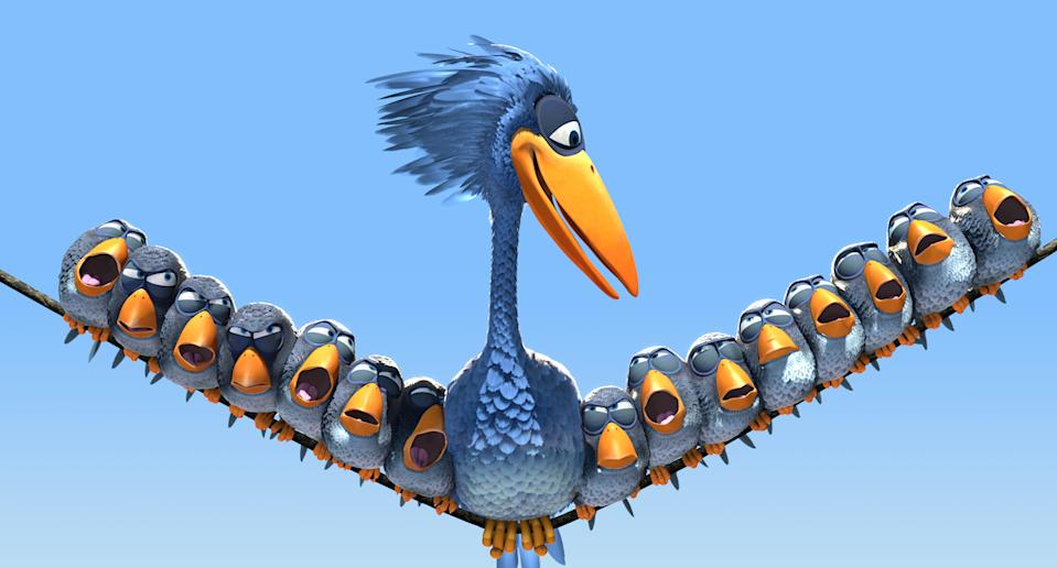 Directed by Ralph Eggleston, For The Birds played in front on Monsters Inc. (Pixar)
