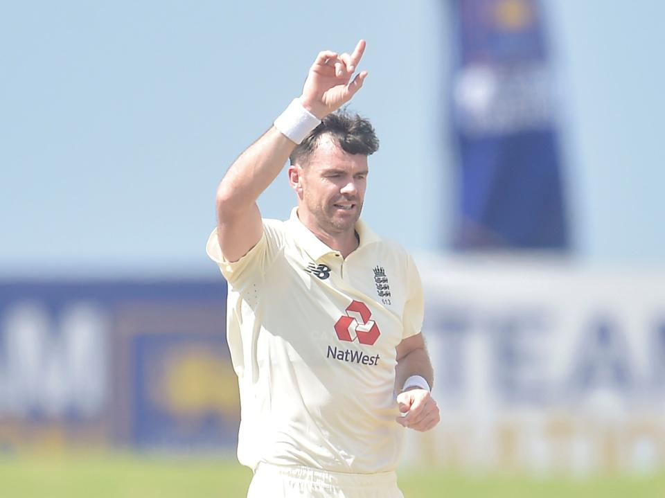 <p>James Anderson took six wickets in Galle</p> (ECB)