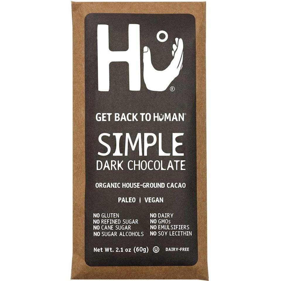 <p>With just three ingredients, this <span>Hu Dark Chocolate Bar</span> ($37 for four bars) manages to be both clean and delicious. I'll never be able to say no to chocolate, so this is a lifesaver.</p>