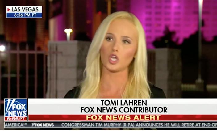 <p>Tomi Lahren and other top Trump campaigners gave thanks on the 'Cameo' app</p>
