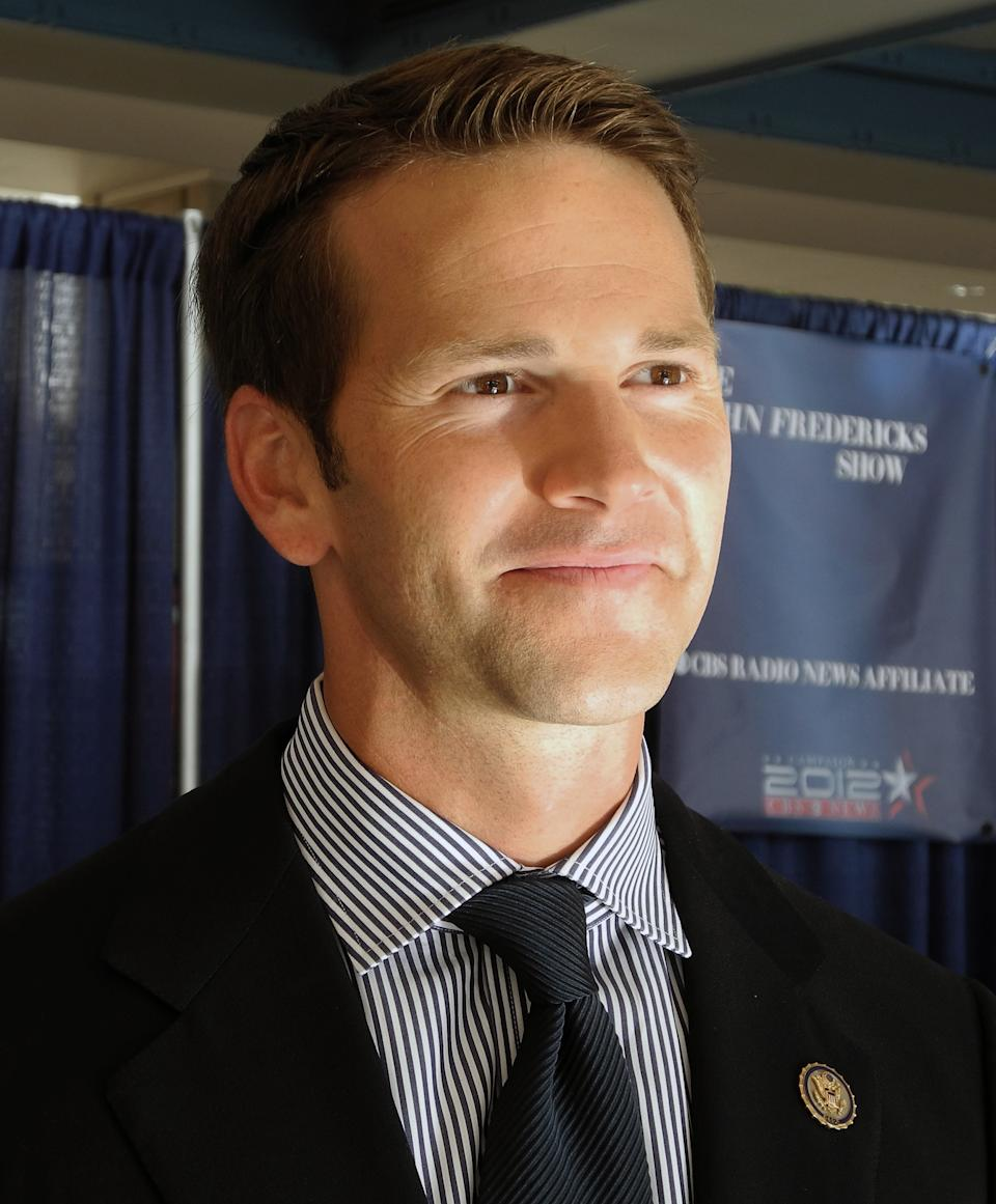 Republican Congressman Aaron Schock of Illinois smiles during an interview with AFP at the Convention Center in Tampa, Florida, on August 28, 2012 during the Republican National Convention. Schock is the youngest member of US Congress, the only one to be born in the 1980s. He's also part of a new generation of conservative lawmakers backed by the Tea Party, working to lower taxes, reduce government aid and ban abortion. AFP PHOTO Brigitte DUSSEAU (Photo credit should read BRIGITTE DUSSEAU/AFP/GettyImages)