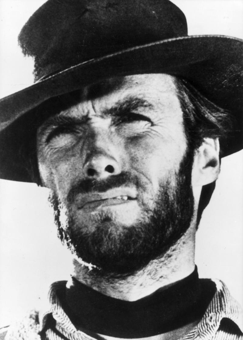 circa 1966: American actor and director Clint Eastwood, star of several spaghetti westerns which were characterized by their violence and featured the direction of Sergio Leone and the haunting soundtracks of Ennio Morricone. (Photo by Keystone/Getty Images)