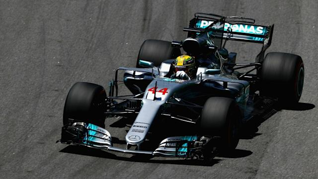 In his first race since securing a fourth F1 world title, Lewis Hamilton suffered the ignominy of crashing out in Q1 at Interlagos.
