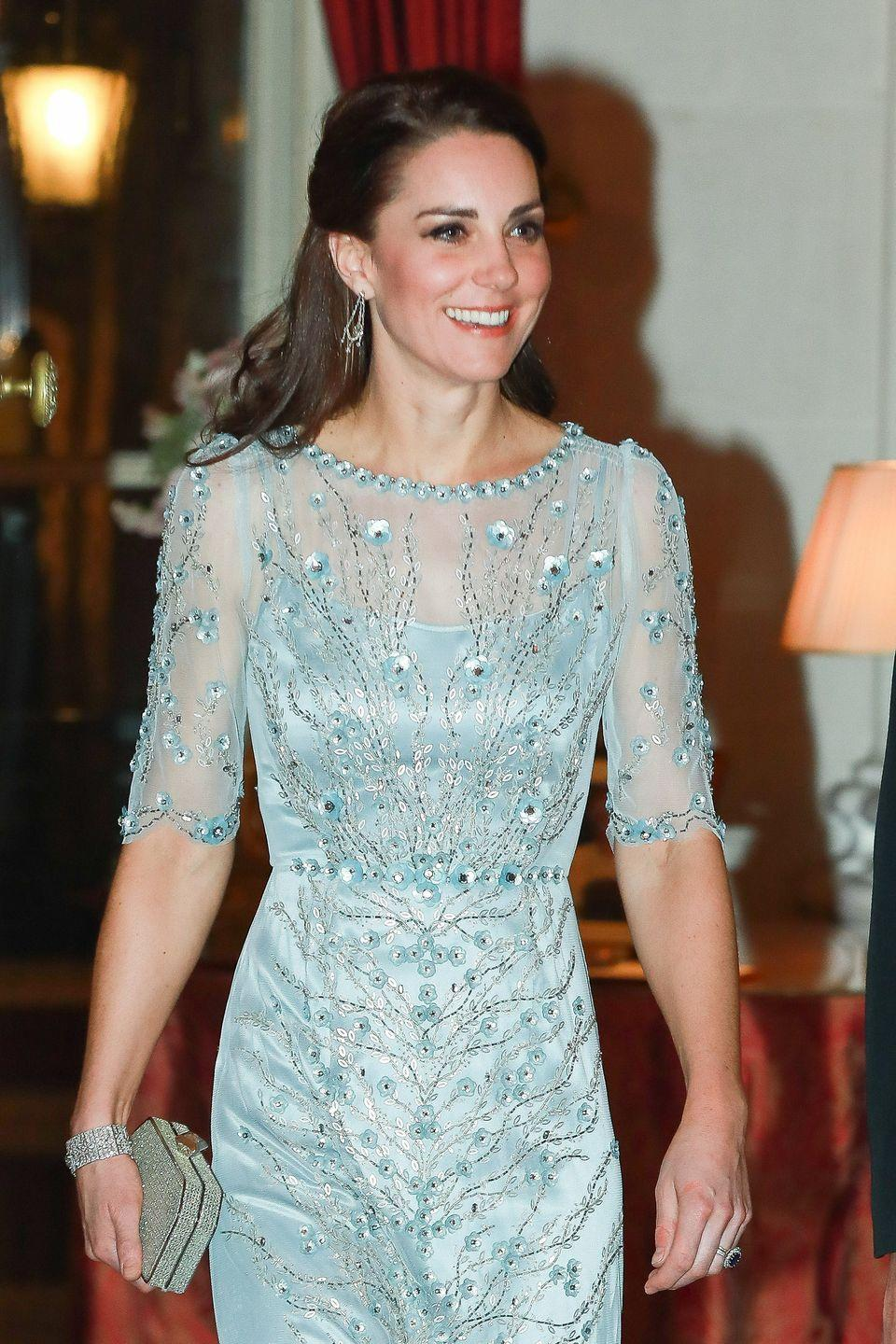 """<p>Post-Princess Charlotte, Kate supposedly turned to a more fruit- and vegetable-forward routine. She was <a href=""""https://www.delish.com/food-news/g3869/kate-middleton-diet/?slide=5"""" rel=""""nofollow noopener"""" target=""""_blank"""" data-ylk=""""slk:said"""" class=""""link rapid-noclick-resp"""">said</a> to be super into ceviche, goji berries, gazpacho, watermelon salad, almond milk and tabbouleh after giving birth, not only because it was delish, but also because it helped her lose the weight she wanted to get rid of.</p>"""