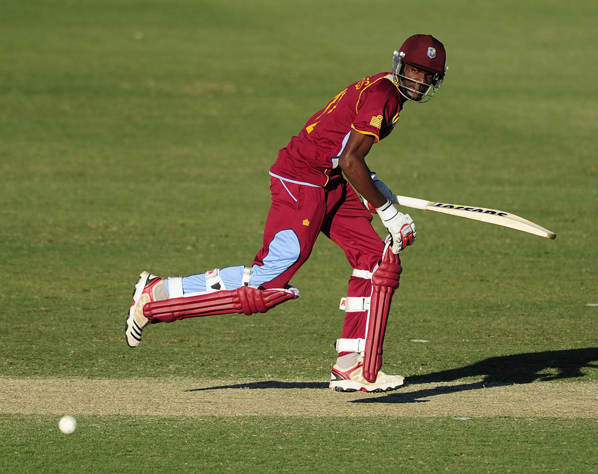 TOWNSVILLE, AUSTRALIA - AUGUST 12:  Justin Greaves of the West Indies bats during the ICC U19 Cricket World Cup 2012 match between the West Indies and India at Tony Ireland Stadium on August 12, 2012 in Townsville, Australia.  (Photo by Ian Hitchcock-ICC/Getty Images)