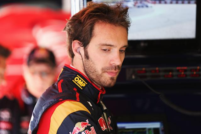 MONTMELO, SPAIN - MARCH 02: Jean-Eric Vergne of France and Scuderia Toro Rosso prepares to drive during day three of Formula One winter testing at the Circuit de Catalunya on March 2, 2013 in Montmelo, Spain. (Photo by Mark Thompson/Getty Images)
