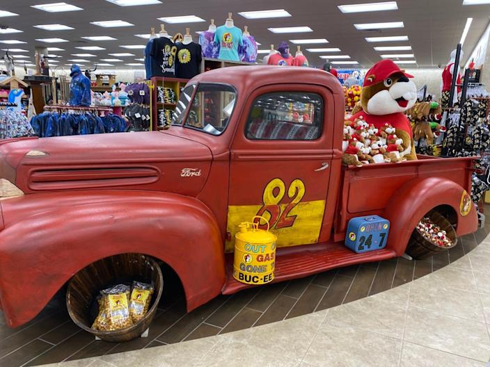 Inside a Florida Buc-ee's convenience store.