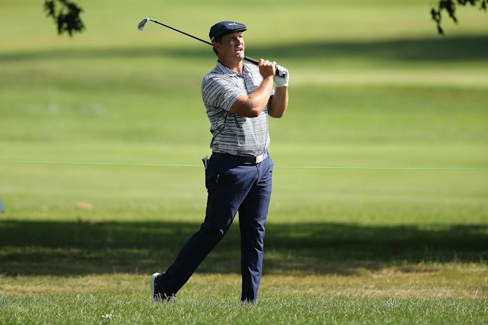 Bryson DeChambeau thinks a cameraman may have hurt his image after filming him for too long at the Rocket Mortgage Classic, and let him hear it. (Leon Halip/Getty Images)
