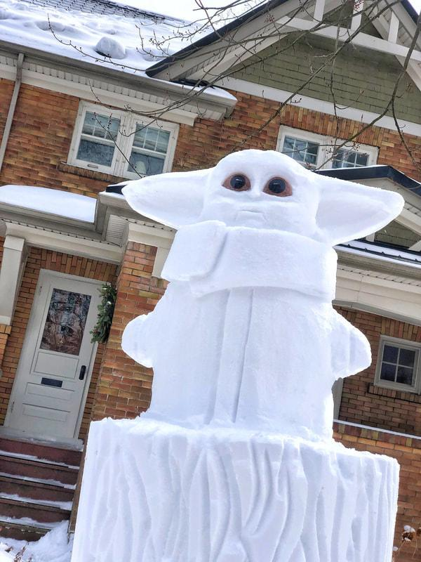 Baby Yoda ice sculpture. COURTESY: Matt Morris /Snowbank Productions. Submitted.