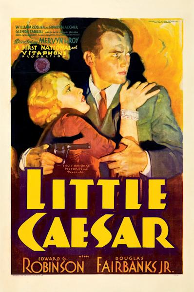 """This February 2012 photo provided by Heritage Auctions in Dallas shows a movie poster for the 1931 film """"Little Caesar"""" featuring Douglas Fairbanks Jr. This and other rare classic movie theater posters found in a northeastern Pennsylvania attic are scheduled to go to auction March 23. (AP Photo/Heritage Auctions)"""