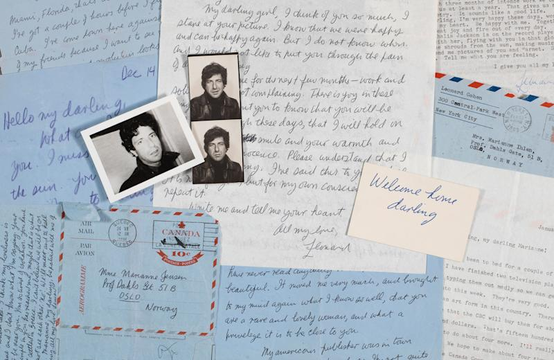 The online auction 'Write Me And Tell Me Your Heart: Leonard Cohen's Letters To Marianne' will run From June 5 to 13.