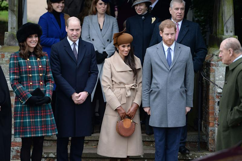 Meghan and Harry join the Royal Family for a church service on Christmas Day.