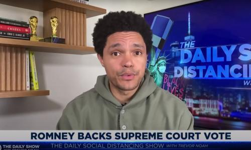 Trevor Noah on the supreme court fight: 'People forget Romney is still a conservative'