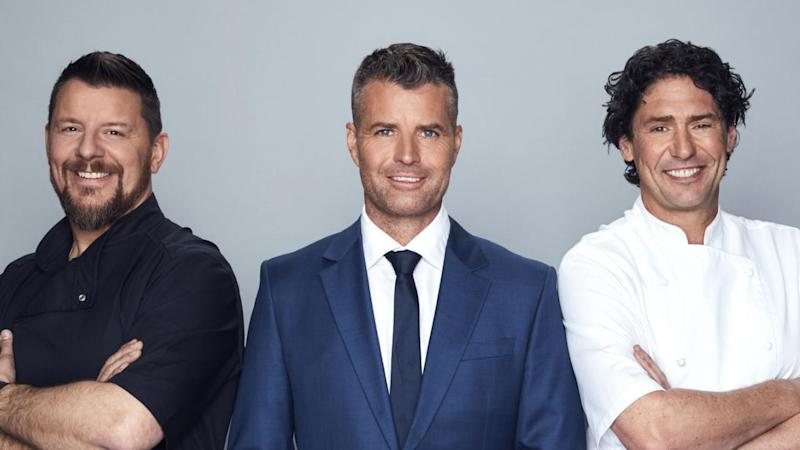 Manu Fiedel, Pete Evans and Collin MKR judges