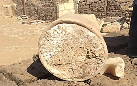 Last month archeologists working on an ancient Egyptian tomb announced they had discovered the remains of 3,200-year-old cheese - Credit: University of Catania