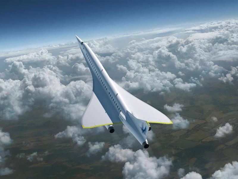 The jet has a planned cruising speed of 1,451mph, almost 100mph faster than Concorde (Boom Supersonic)