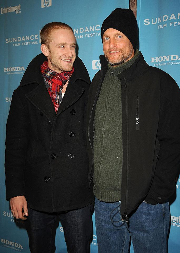 """<a href=""""http://movies.yahoo.com/movie/contributor/1800332837"""">Ben Foster</a> and <a href=""""http://movies.yahoo.com/movie/contributor/1800018911"""">Woody Harrelson</a> at the Sundance Film Festival screening for """"The Messenger"""" - 01/19/2009"""