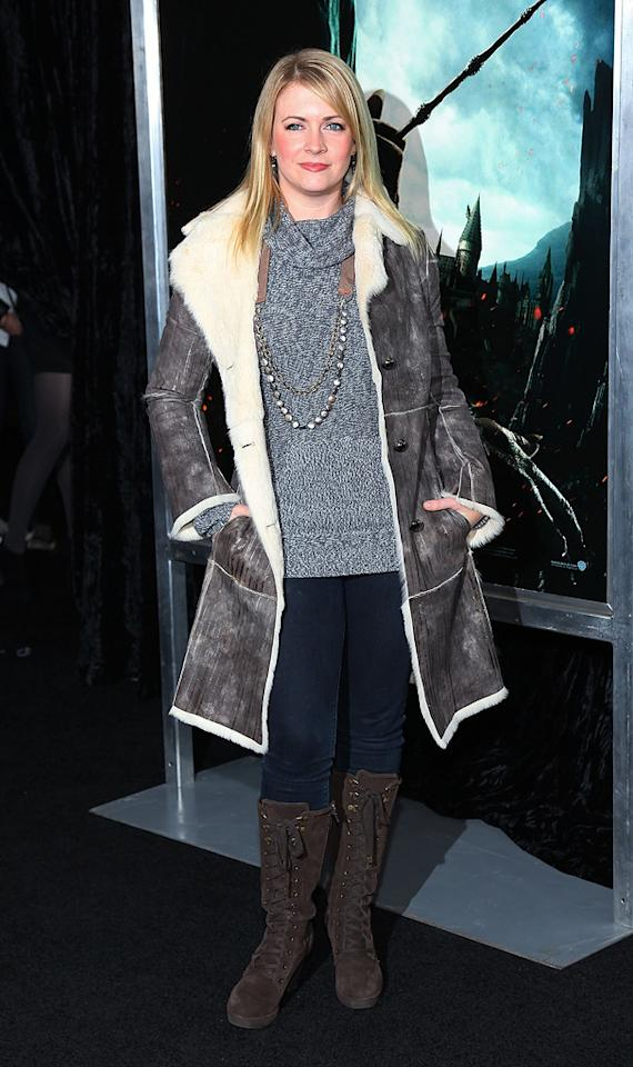 """<a href=""""http://movies.yahoo.com/movie/contributor/1800018890"""">Melissa Joan Hart</a> attends the New York premiere of <a href=""""http://movies.yahoo.com/movie/1810004780/info"""">Harry Potter and the Deathly Hallows - Part 1</a> on November 15, 2010."""